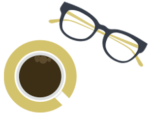 Glasses and coffee