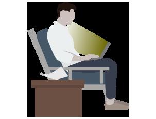 Guy in recliner