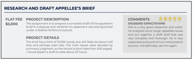 Appellate Brief Writer: Research and Draft Appellee's Brief