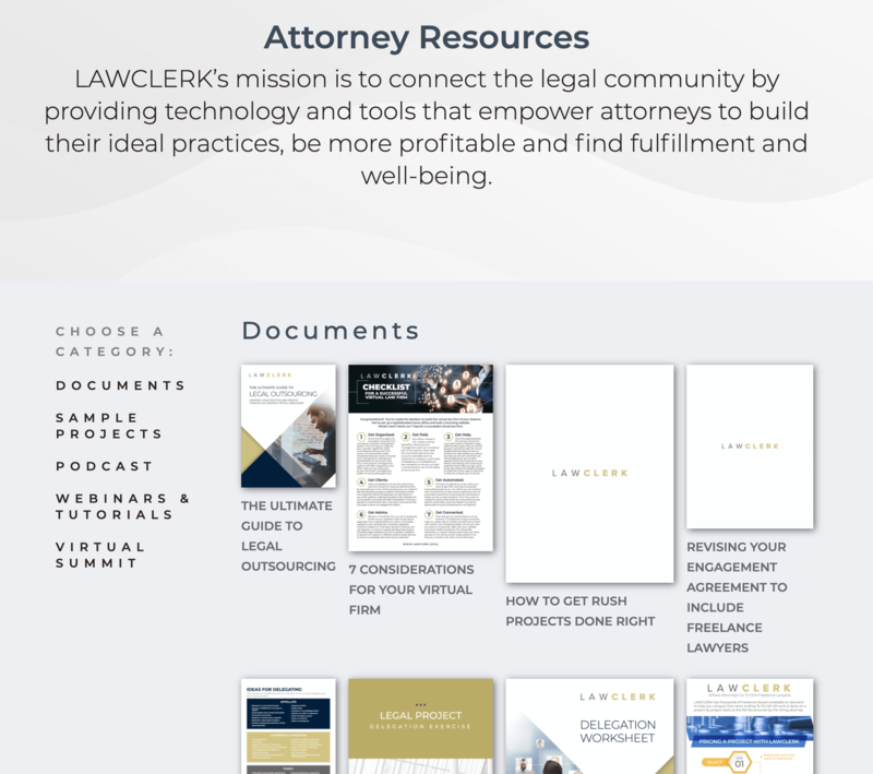 LAWCLERK's Attorney Resources Page