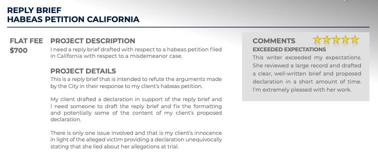 Reply Brief Habeas Petition California (Flat fee: $700)