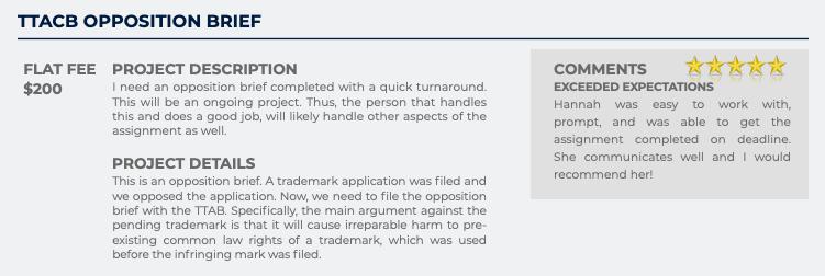 TTACB Opposition Brief (Flat fee: $200)