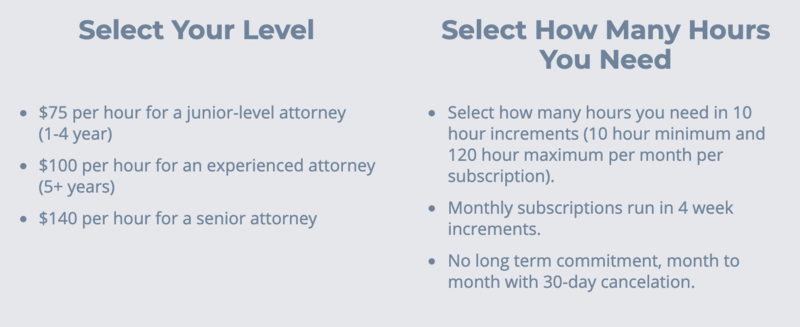 LAWCLERK: Select Your Level of Expertise and Hours Needed