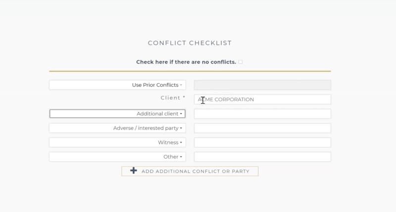 """LAWCLERK's """"Conflict Checklist"""""""
