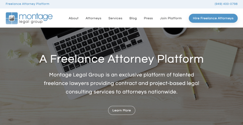 Montage Legal's homepage