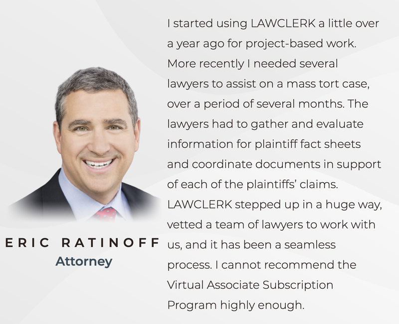 Eric Ratinoff Attorney Review of LAWCLERK